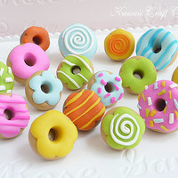 Assorted, Pushpins, Food, Donuts, Donut, Cake, OOAK, Memo, Cork, Notice, Board, Cooking, Gift, Cute, Pin, 3D, Kawaii, 1:6, bjd, Blythe, Pins