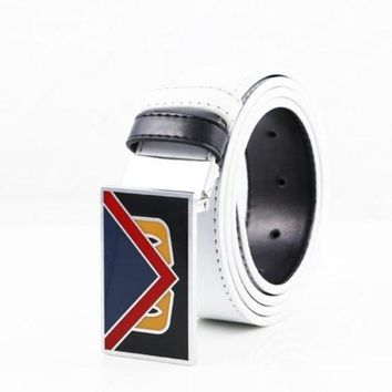 DCCKHI2 FENDI UNISEX SIDED LEATHER MONSTER BELT LAFAYETTE BEL Tagre-