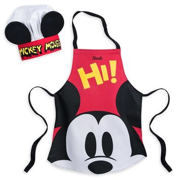 Disney Eats Mickey Mouse Apron and Hat Set for Kids New with Tags