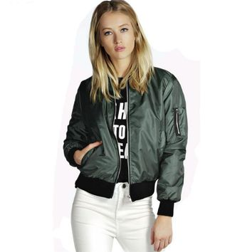 Women Tops Bomber Jackets