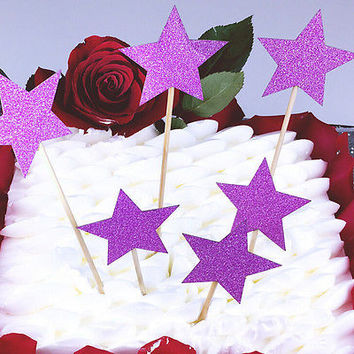 Star Birthday Cake Bunting Banner Topper Flags Children Party Baby Shower PickHU