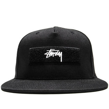 Stussy - Velcro Patches Strapback Cap (Black)