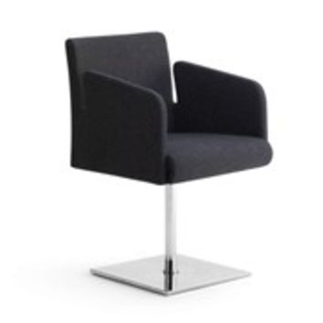 Swivel low lounge chair with 4-spoke base STOL Chairs Collection by F2 FORM AND FUNCTION
