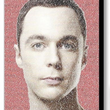 The Big Bang Theory Sheldon Cooper Quotes Mosaic INCREDIBLE Framed 9X11 LE w/COA