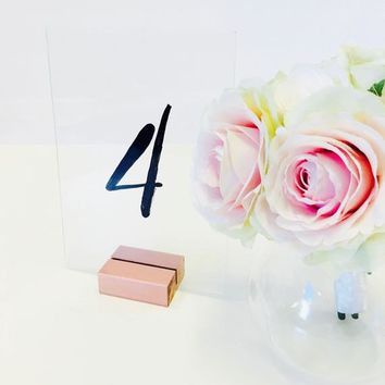 Table Number Holder, 2 inch, Set of 10, For Weddings, Restaurants, Banquets, ROSE GOLD, by Gallery360Designs