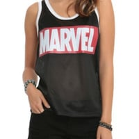 Marvel Logo Mesh Girls Tank Top