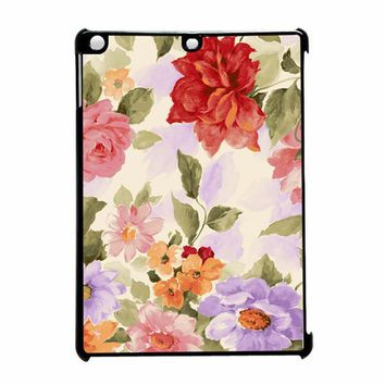 Charming and Fresh Pink Rose Floral 2 iPad Air Case