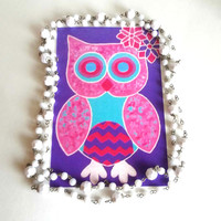 pink owl 4 x 6 Art Print For Home Decor