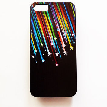 iPhone 6 Case Rainbow Stars iPhone 6 Hard Case Geometric Stripes Cover For iPhone 6 Slim Design Case