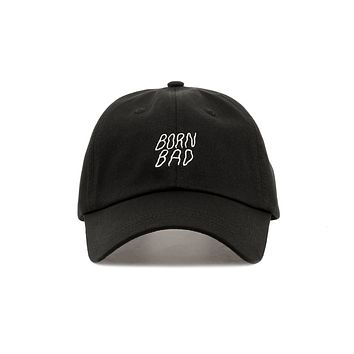 Premium Embroidered Born Bad Dad Hat - Baseball Cap with Adjustable Closure