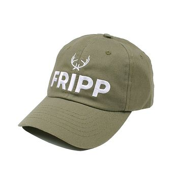 Antler Logo Hat in Military Green by Fripp Outdoors