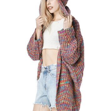 UNIF | RAYA HOODED CARDIGAN