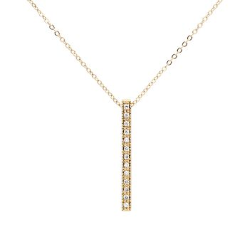 CZ Large Bar Necklace