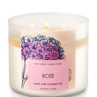 Rose 3-Wick Candle | Bath And Body Works