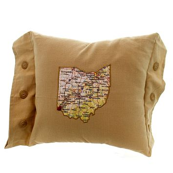 Home Decor Ohio Home Is Where The Heart Is Pillow Accent Pillow