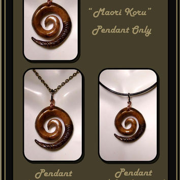 For Him, Mens jewelry, Maori Koru pendant, Mans necklace, Unisex jewelry, couples jewely, mother duaghter jewelry