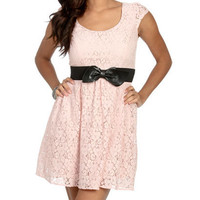 Lace Belted Full Dress | Shop Dresses at Wet Seal