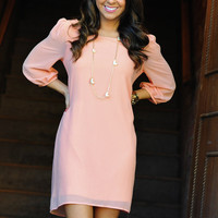 Blow Me Away Dress: Pale Pink | Hope's