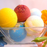 Bath Bomb Box  - 6 Large Vegan Bath Bombs -- You pick the scents