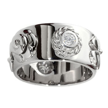 Chanel Camellia Diamond Ring in White Gold