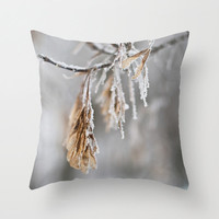 Winter Photography Pillow Snow Cushion Covers Beige White Aluminum Grey Throw Pillow Covers 16x16 41x41 18x18 46x46 20x20 Accent Pillow