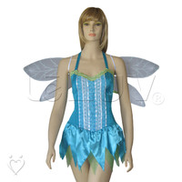 Roleplay Fairy Nymph Halloween Costume + Wings Full Set