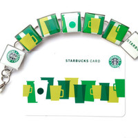 Starbucks Repurposed Bracelet Recycled Green by lifeaccessories
