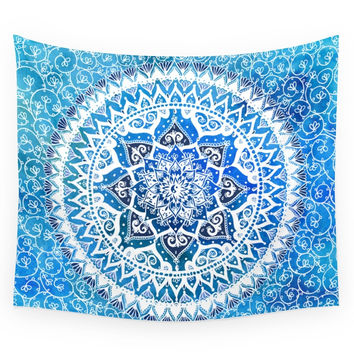 Society6 Watercolour Yin Yang Mandala Wall Tapestry
