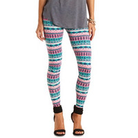 COTTON TRIBAL PRINTED LEGGINGS