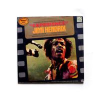 vintage record 1970 JIMI HENDRIX Experience LP ost rock vinyl. summer, sun. brown green black cover. music. collectibles