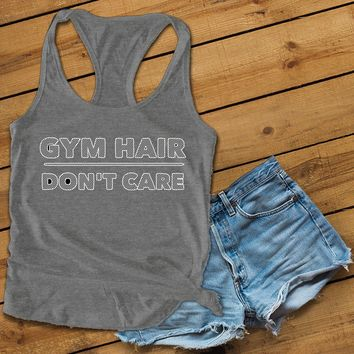 Gym hair don't care Women's Ideal Racerback Tank
