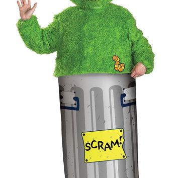 Retro Oscar Grouch Xl 42-46 Men's Costume