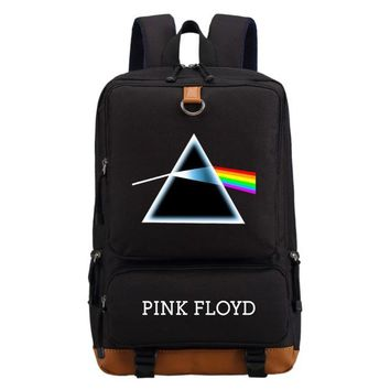 Girls bookbag WISHOT Pink floyd Dark side of the moon backpack Men women's girl School Bags travel Shoulder Bag Laptop Bags bookbag AT_52_3