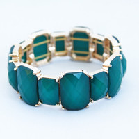 Obisdian Stone Stretch Bangle