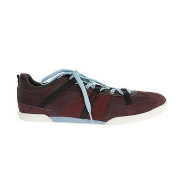 Dolce & Gabbana Bordeaux Leather Casual Sneakers