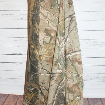 RealTree Camo Maxi Skirt Jersey Knit Womens and Plus Size Camouflage Long XS S M L XL XXL 3X 4X Sizes Available AmyAnne Duck Dynatsy Hunting