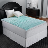 Sleep Zone 5-Zone Foam Mattress Topper in Blue