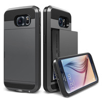 Slide Wallet Credit Card Slot Phone Case For Samsung Galaxy S3 S4 S5 S6 S7 S7 Edge NOTE 5 7 A5 A7 J5 J7 Grand Core Prime Covers