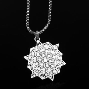 FLOWER OF LIFE PENDANT NECKLACE MANDALA SACRED GEOMETRY JEWELRY