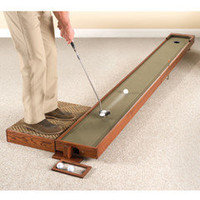 The Handcrafted Adjustable Putting Green - Hammacher Schlemmer