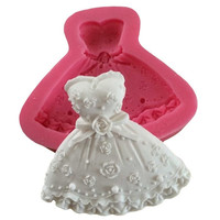 Wedding Dress Fondant Mould Cupcake Cake Fondant Craft Chocolate Mold = 5658096577