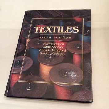 Textiles Vintage Book Fabric Weaving Fashion Designer Pattern Sewing Tailor Clothing Crafter Hobby
