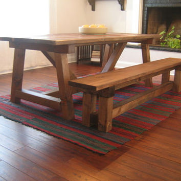 Farmhouse Bench, Reclaimed Wood, Farmhouse Dining Table, Rustic Bench