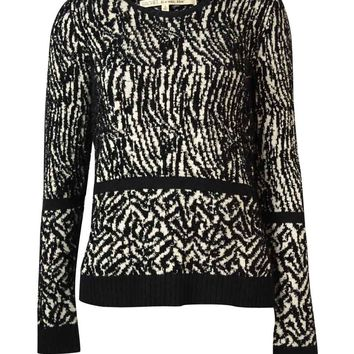 Rachel Roy Women's Pattern Eyelash Knit Sweater