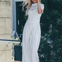 Lace Jumpsuit Ivory