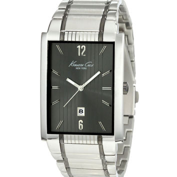 Kenneth Cole KC3921 Men's Rectangular Stainless Steel Grey Dial Watch