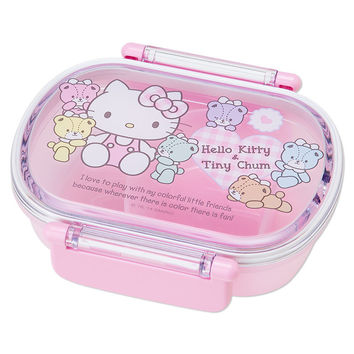 Hello Kitty x Tiny Chum Bento Lunch Case Lunchbox Tiffin Box DXS SANRIO JAPAN
