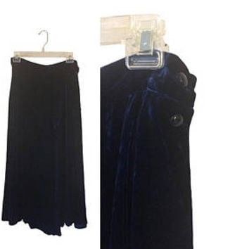 Velvet Maxi Skirt Blue Velvet Skirt Crushed Velvet Skirt Long Winter Skirt Long Velvet Skirt Christmas Skirt Blue Maxi Skirt Long Blue Skirt