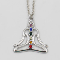 Chakras Necklace, Yoga Spiritual Healing Ruby Jewelry
