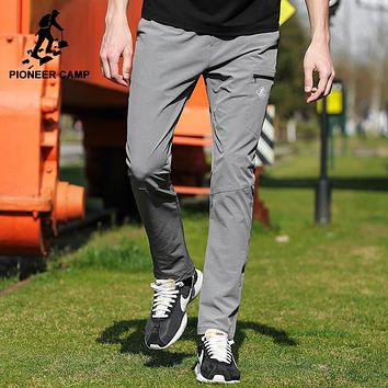 New quick drying casual pants men clothing solid straight summer trousers male quality stretch